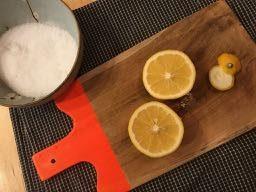 Meyer lemons and sea salt